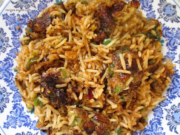 Vegetable Manchurian Fried Rice Recipe
