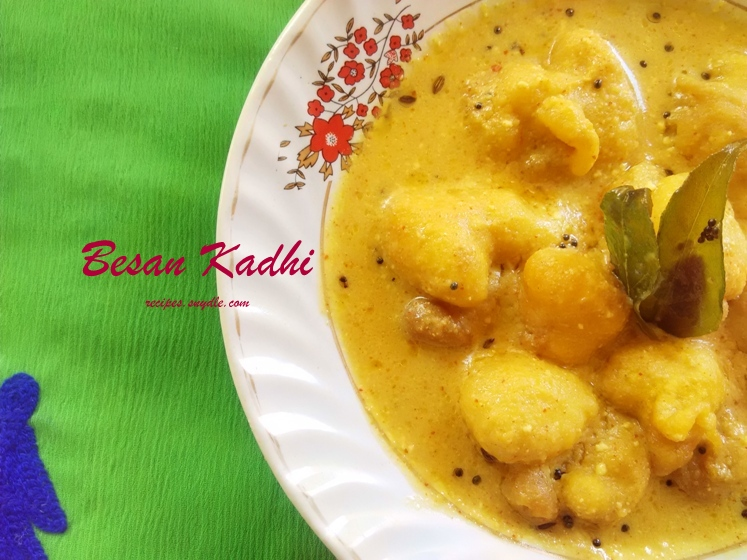 simple and easy besan ki kadhi recipe