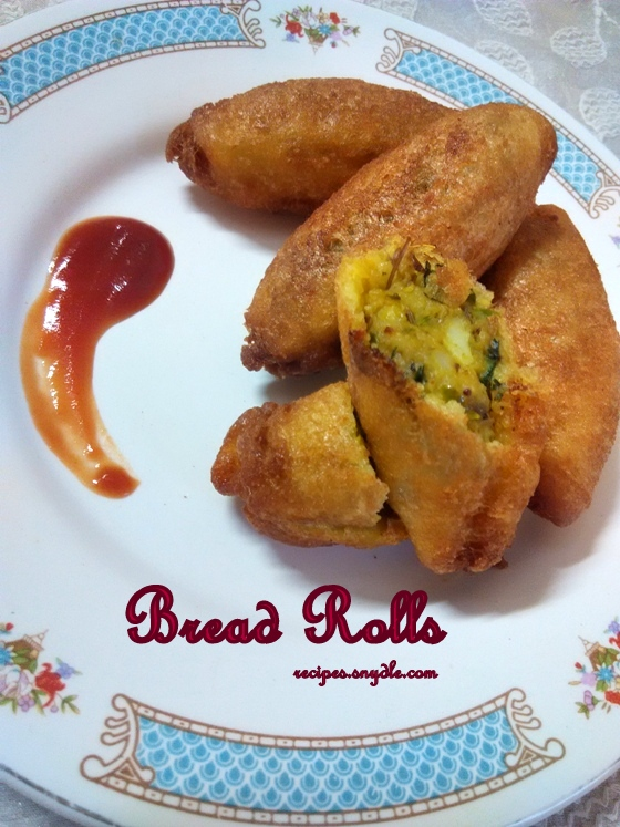 Bread Roll Recipe/Stuffed Bread Roll Recipe/Fried Stuffed Bread Roll Recipe.