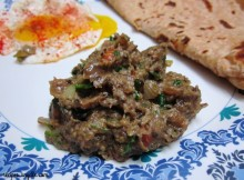 Baingan Bharta with Spring Onion Recipe