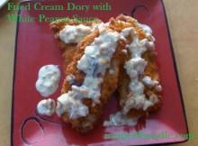 Pan Fried Cream Dory with White Peanut Sauce