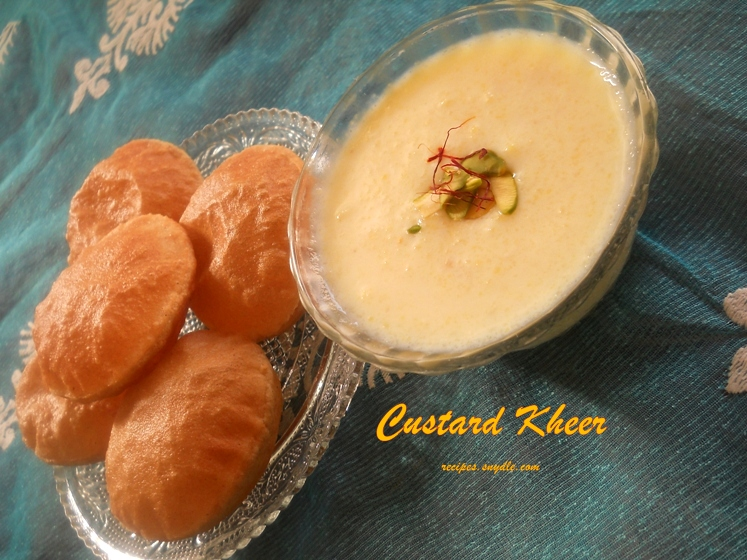 custard kheer recipe