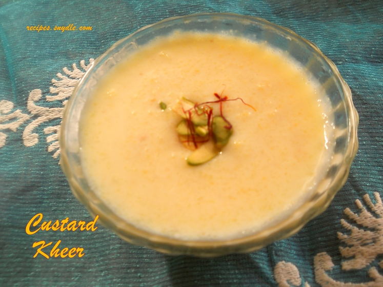 how to make custard kheer