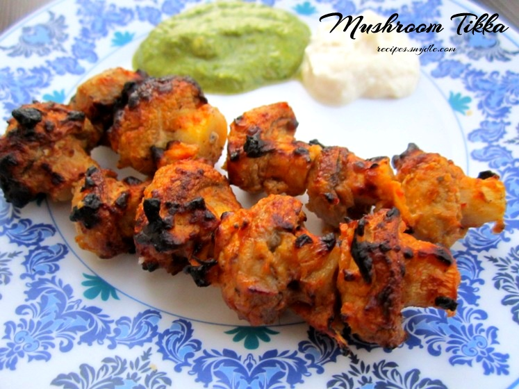 how to make mushroom tikka