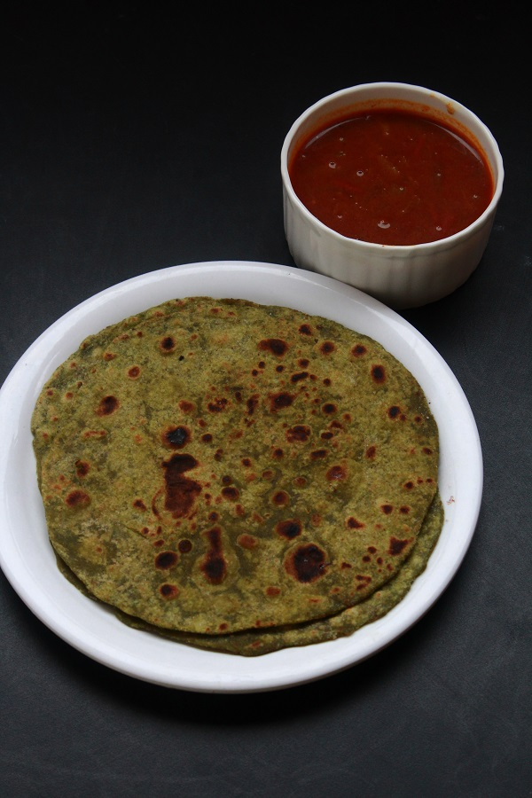 how to cook palak paratha