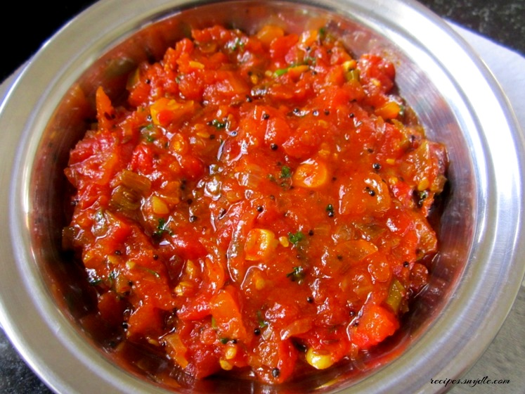 how to make tomato chutney