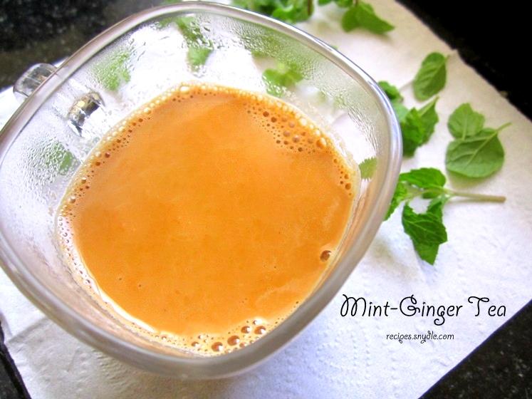 Mint-Ginger Tea Recipe / Pudine Aur Adrak Wali Chai Recipe