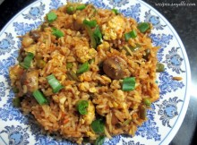 Schezwan Egg Fried Rice Recipe