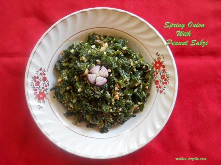 spring onion sabji indian