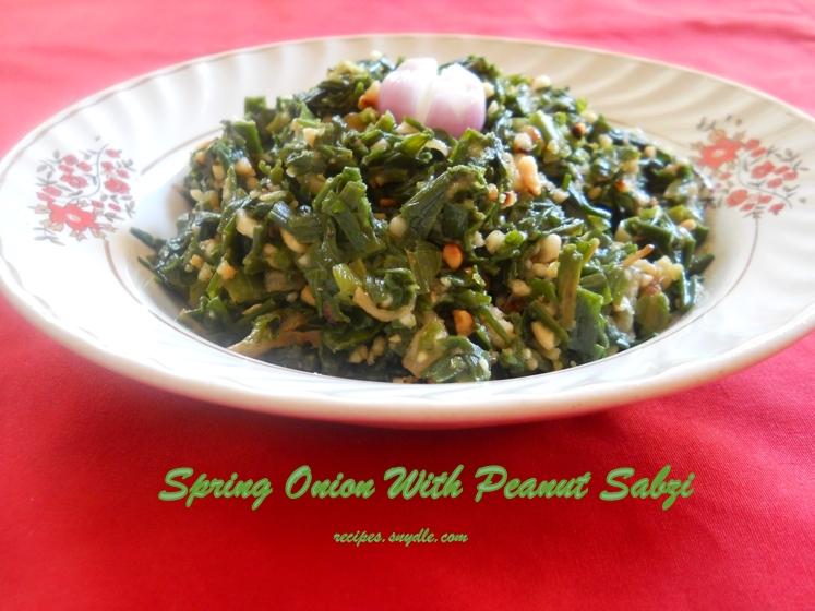spring onion sabji maharashtrian style