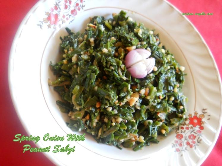 spring onion sabzi