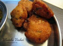 Ulundu Vadai Recipe