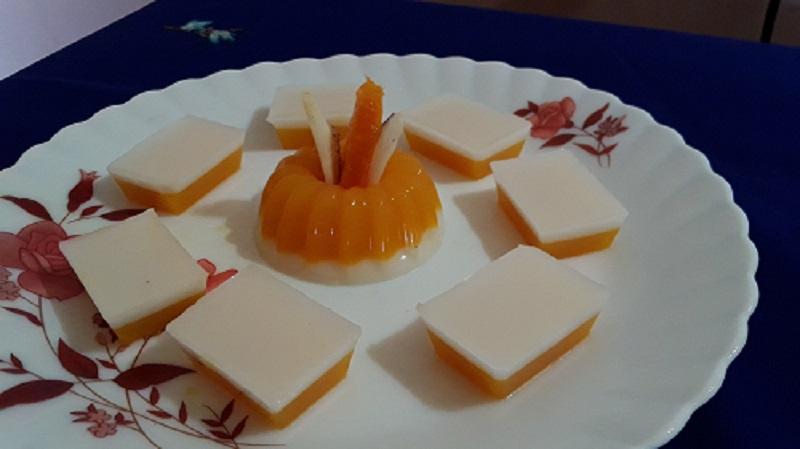 mangococonut milk jelly