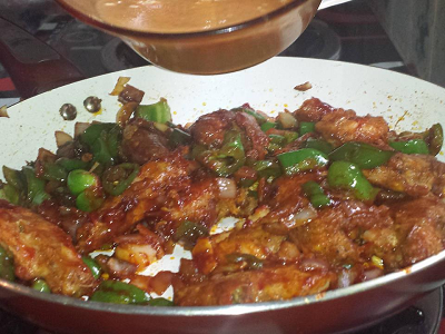 mixed with chemmeen chilli