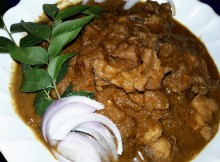 Nadan Chicken Curry with roasted coconut gravy