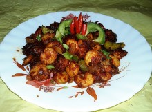 Dry Chilli Prawns (Dry Chilli Shrimp)