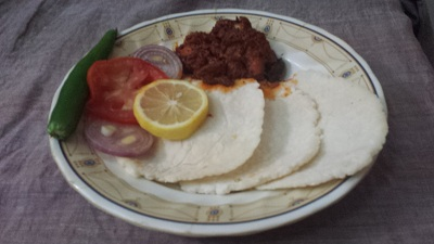 ari pathiri with mutton