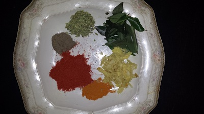 chicken dry fry ingridents