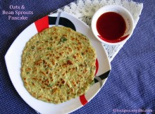 Green Moong Bean and Oats Pancake Recipe / Hare Moong aur Oats ka Cheela