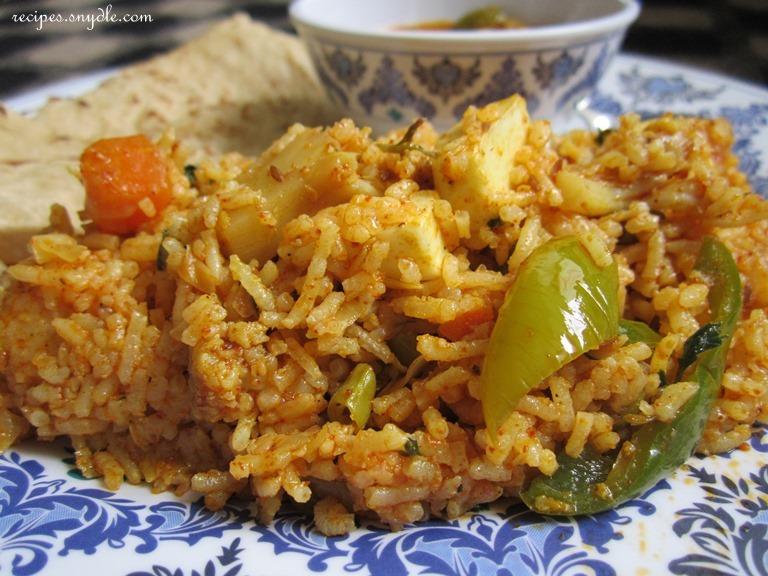 recipe of vegetable pulao