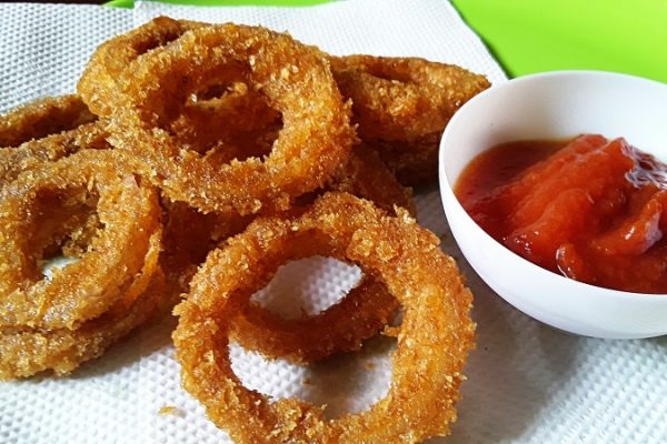 Crispy Onion Rings/ Without Egg