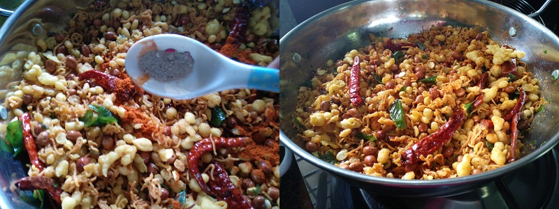 Kerala Spicy Mixture- steps