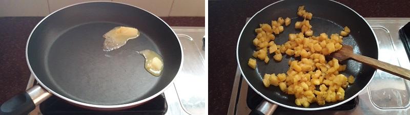 Banana cake preparation steps