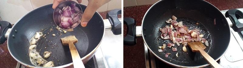 Aloo Palak Gravy preparation steps