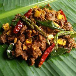 Kerala Beef Roast With Coconut.