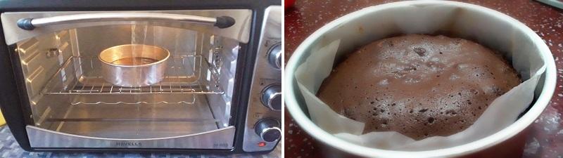 Chocolate cake recipe preparation steps