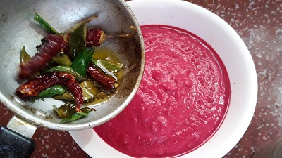beetroot pachadi steps