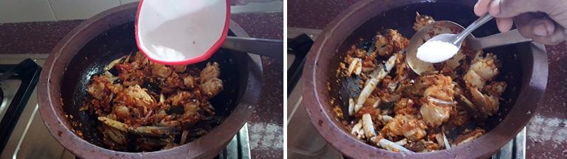 Crab Roast preparation steps