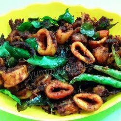 Squid fry / Koonthal fry / Nadan style kanava fry