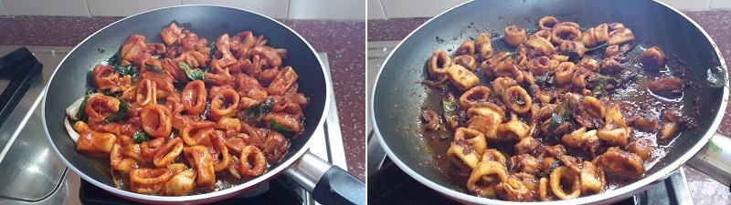 squid fry preparation steps