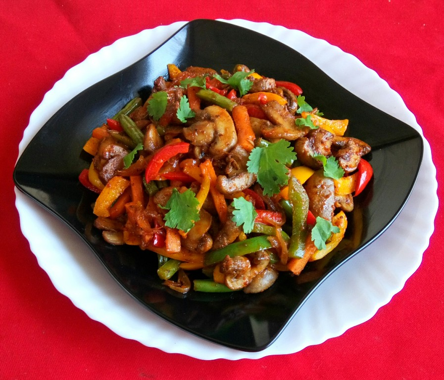 Mushroom and Vegetables Stir Fry
