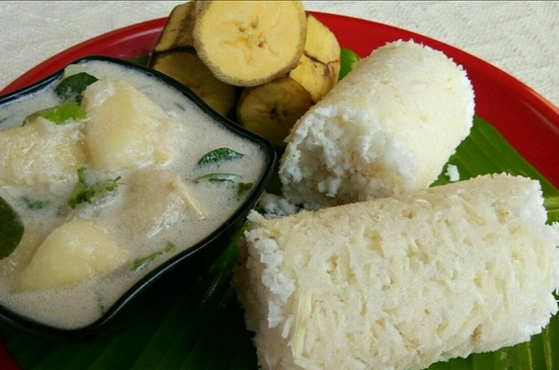 Indian food recipes indian recipes desi food desi recipes kappa puttu is a very popular and a traditional breakfast dish of kerala and is made by tapioca and with rice flouris traditional dishes are healthy and forumfinder Image collections