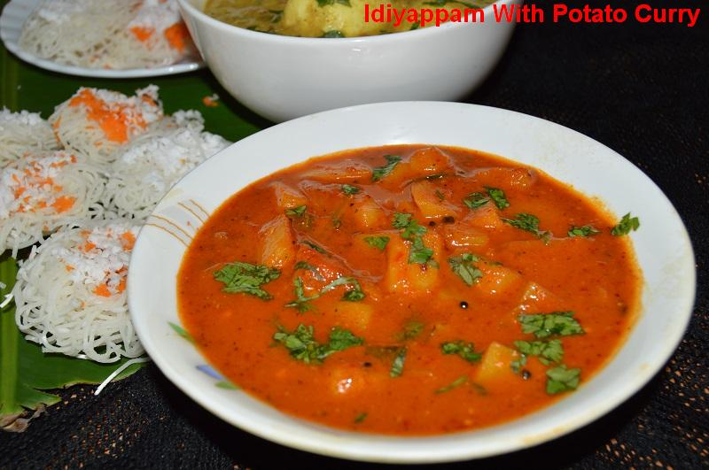 idiyappam with potato curry