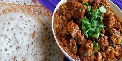 Appam With Curry / Kerala Style Appam With Beef Curry Recipe