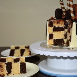 Chess Board Cake/Checker Board Cake – Eggless