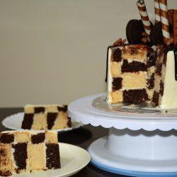 Chess Board Cake/Checker Board Cake – Eggless