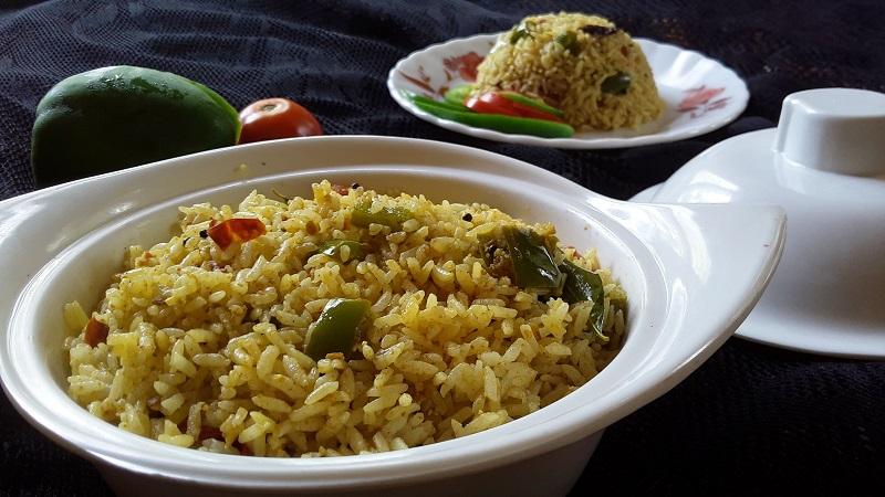 capsicum rice lunch box recipe