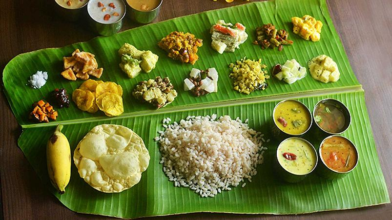 Onam sadya recipes yummy recipes there are variations in menu depending on the place and religion in some communities like the north part of kerala includes non vegetarian dishes in sadya forumfinder