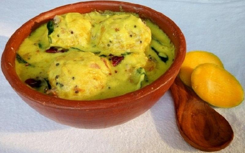 Mambazha Pulissery - Kerala Sadhya Style Recipe