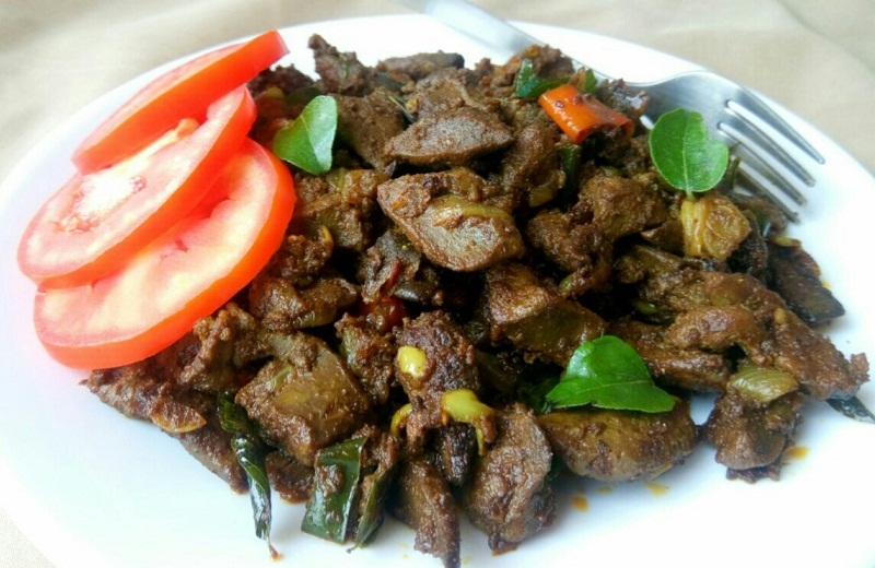 Mutton Liver Fry - Mutton Liver Pepper Fry Recipe