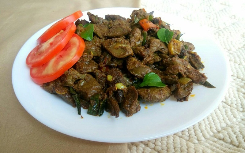 Mutton Liver Pepper Fry Recipe