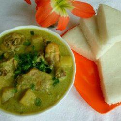 Vattayappam and Chicken Stew