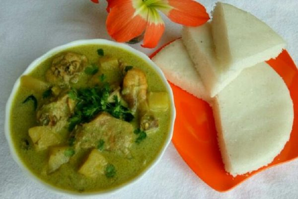 Vattayappam and Chicken Stew – Kerala style Vattayappam and Chicken Stew recipe