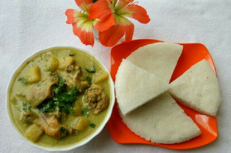 Vattayappam and Chicken Stew - Kerala Style Recipe