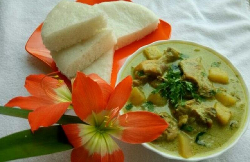 Vattayappam and Chicken Stew Recipe