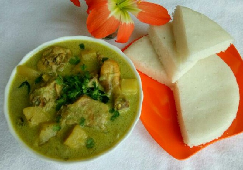 Vattayappam and Chicken Stew